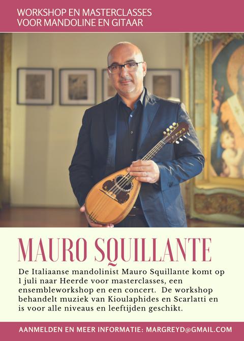 Workshop Mauro Squillante voor mandolinisten en gitaristen @ Cultuurplein Noord Veluwe | Apeldoorn | Gelderland | Nederland