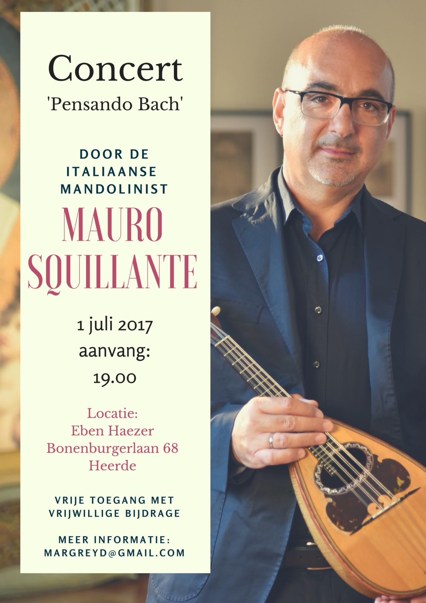 Concert 'Pensando Bach' - Mauro Squillante @ Eben Hazer | Heerde | Gelderland | Nederland