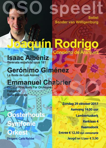 Sander van Willigenburg - concierto de Aranjuez, J. Rodrigo @ Oosterhout | Raamsdonk | Noord-Brabant | Nederland