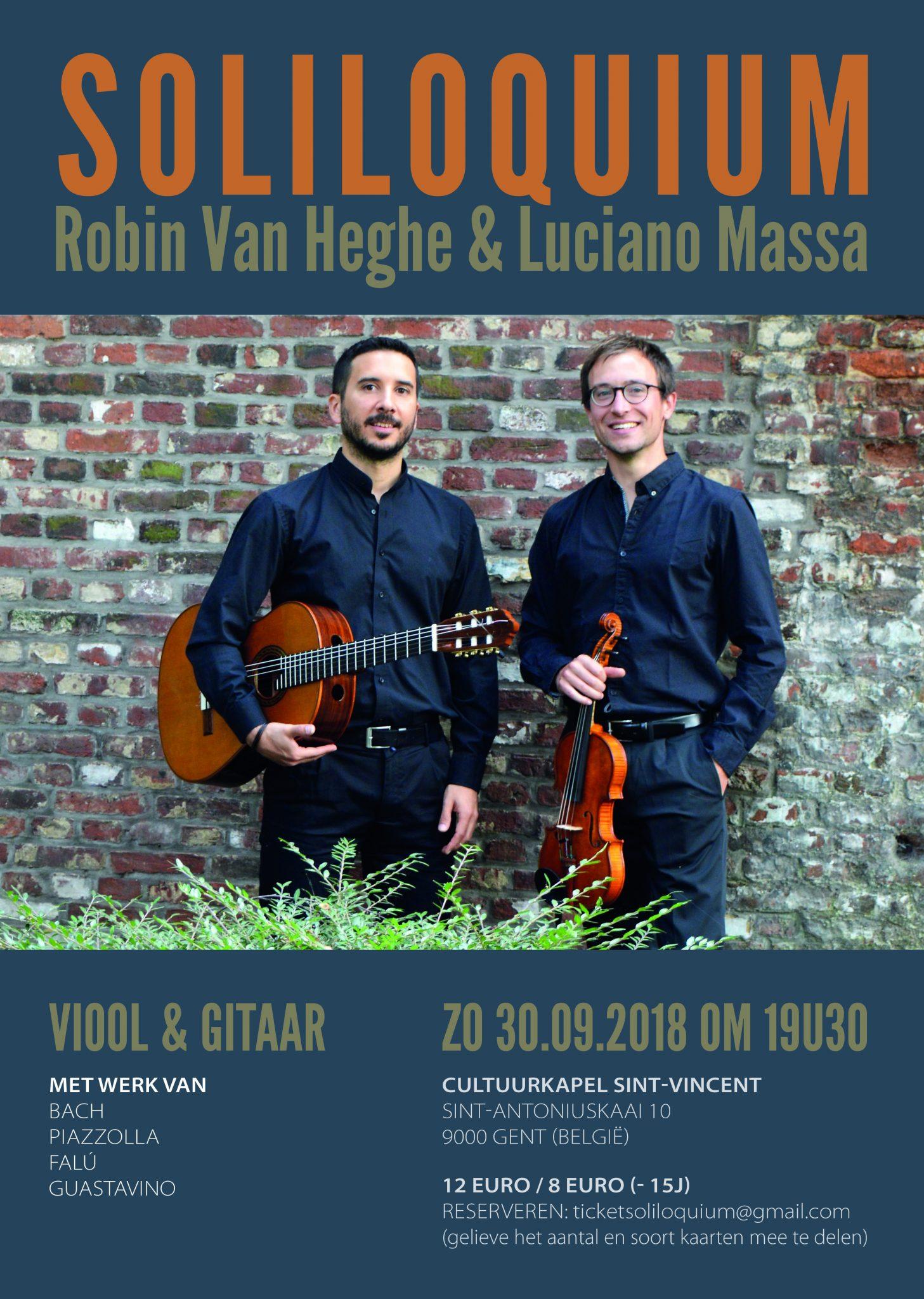 Soliloquium (Luciano Massa en Robin Van Heghe) @ Cultuurkapel Sint-Vincent | Gent | Vlaanderen | België