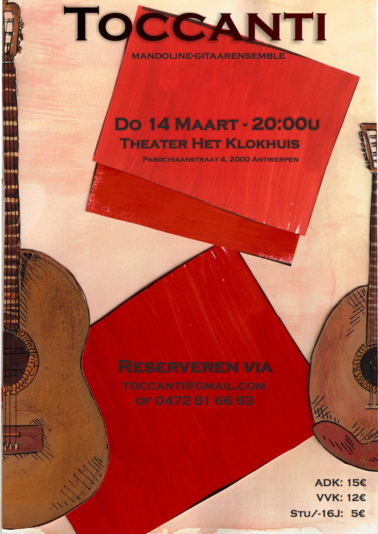 Toccanti Concert : mandoline - en gitaarensemble @ Theater Het Klokhuis  | Antwerpen | Vlaanderen | België