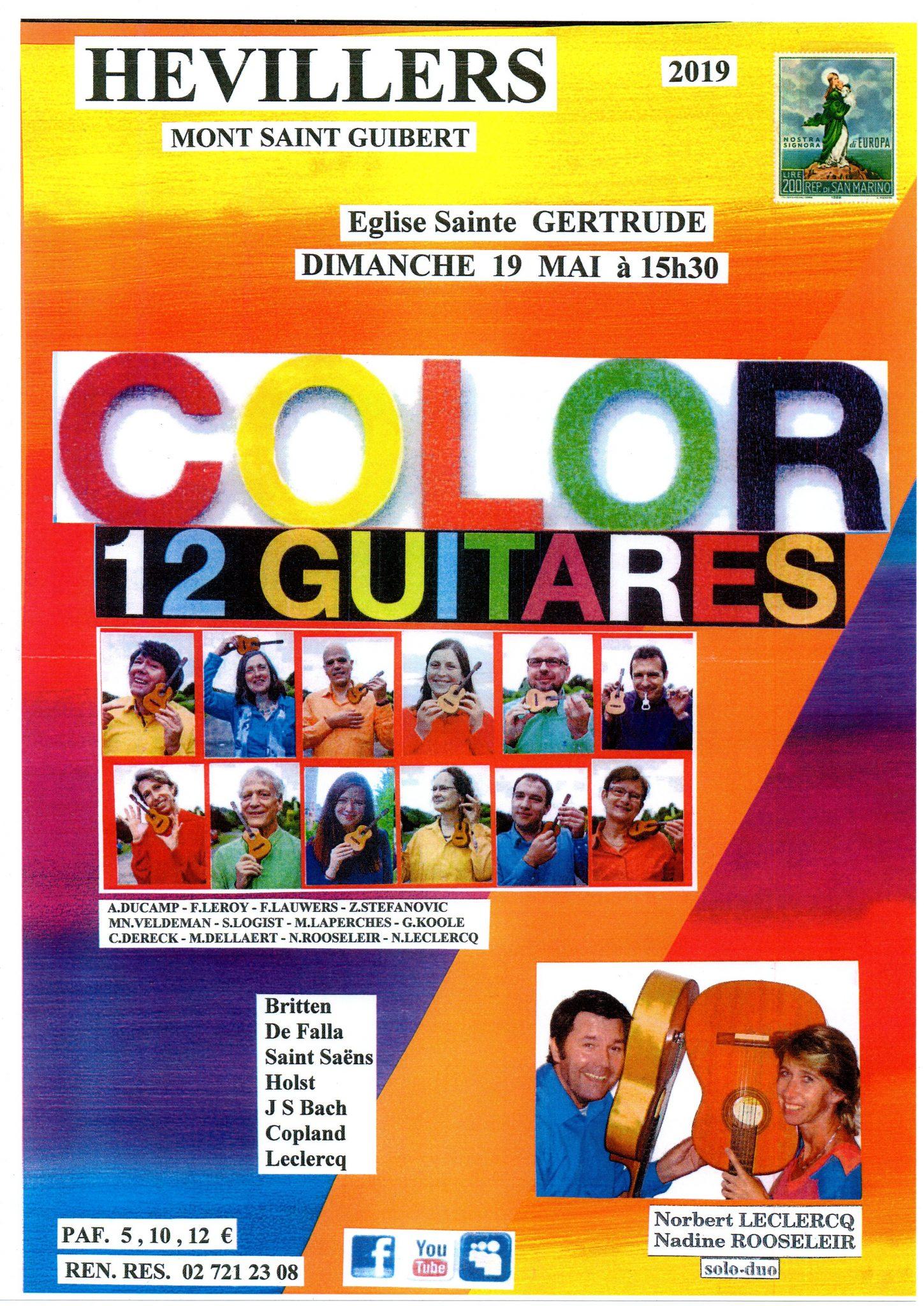 color 12 gitarren @ eglise ste gertrude hévillers | Mont-Saint-Guibert | Waals Gewest | België