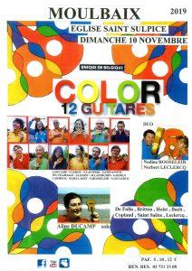 color 12 gitaren @ eglise saint sulpice | Ath | Wallonie | België