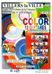 color 12 gitaren @ eglise n d de la visitation | Villers-la-Ville | Wallonie | België