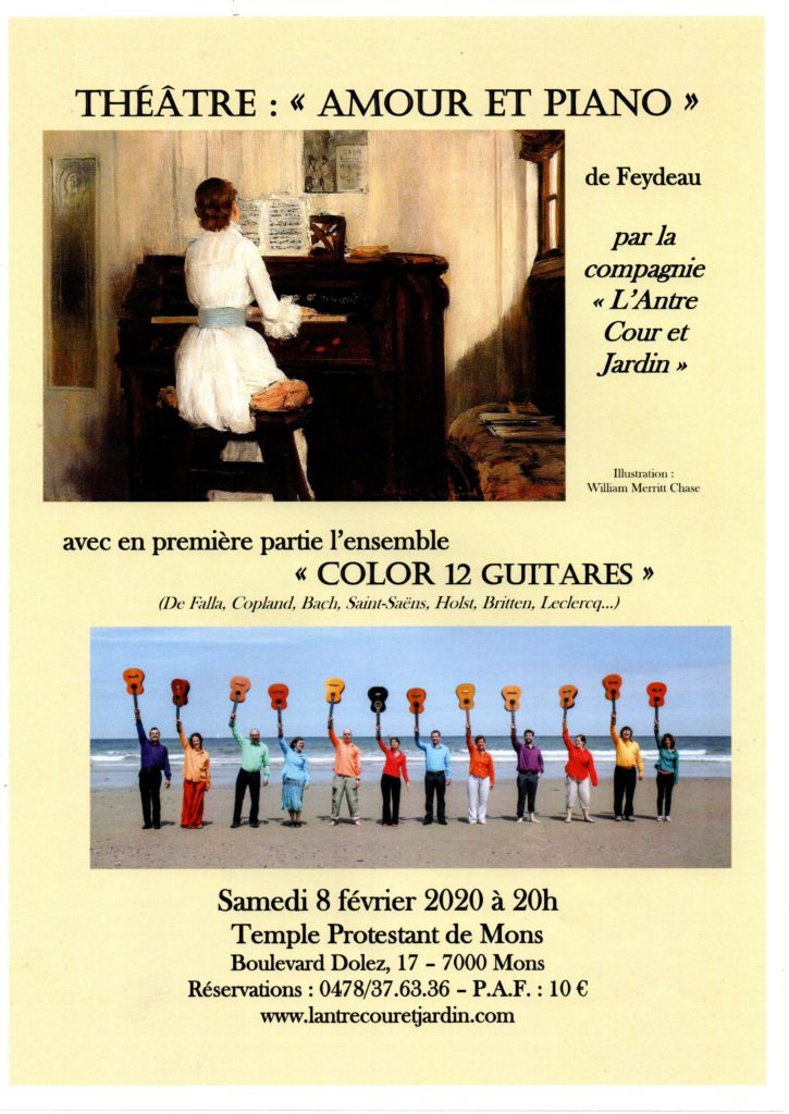 color 12 guitares @ temple protestant ,bld dolez 17 mons 7000 | Mons | Wallonie | België
