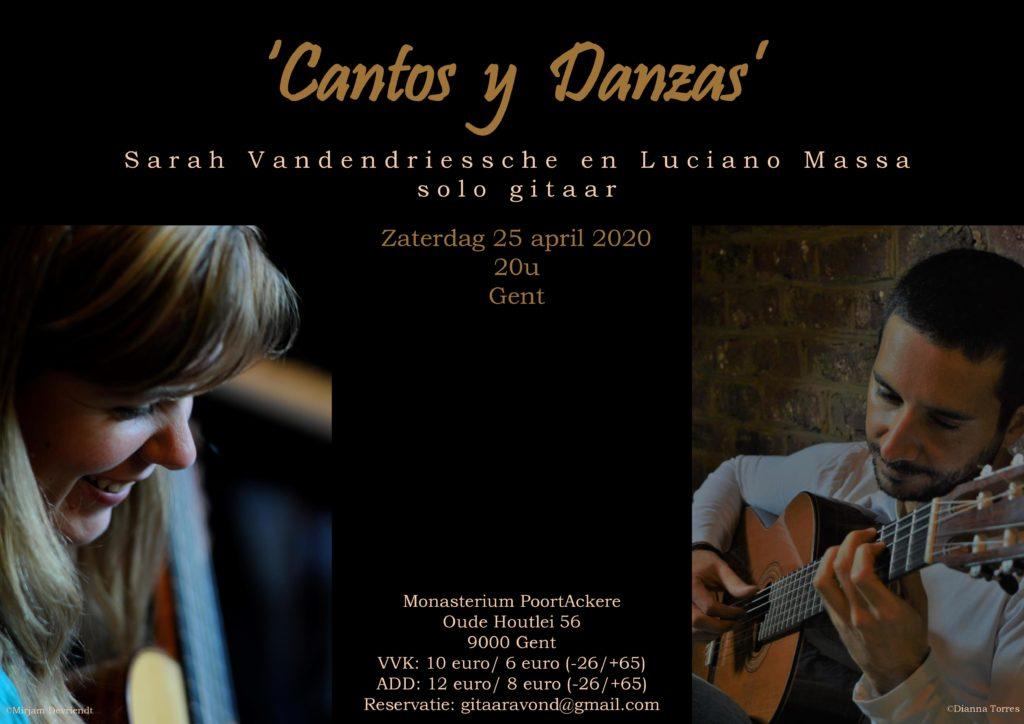 Cantos y Danzas: Sarah Vandendriessche & Luciano Massa @Gent @ Monasterium PoortAckere | Gent | Vlaanderen | België