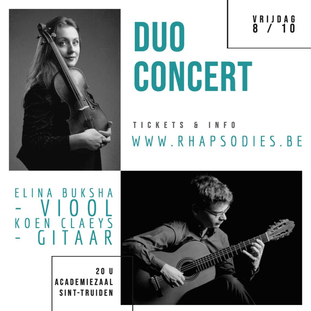 Duo Concert Buksha-Claeys @ academiezaal | Sint-Truiden | Vlaanderen | België